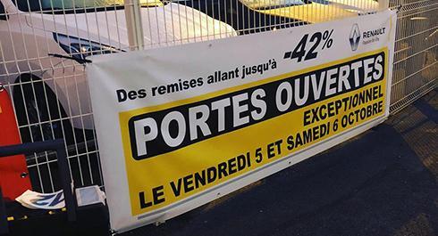 Création de banderoles publicitaires